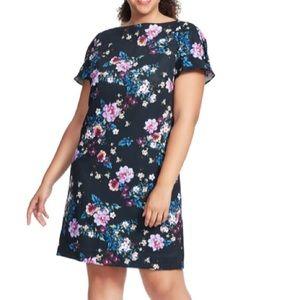 Tahari Woman's Plus floral print dress 18W New